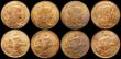 London Coins : A169 : Lot 2173 : France 5 Centimes (8) 1900 KM#842 , 1904 KM#842, 1917 KM#842 (6), the 1900 UNC and colourfully toned...