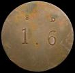 London Coins : A169 : Lot 302 : Eighteenpence 18th Century Warwickshire - Birmingham DH3 undated Obverse: A beehive and bees/Reverse...