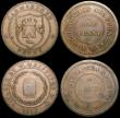 London Coins : A169 : Lot 322 : Penny 18th Century Anglesey 1787 DH37 NEF/GVF, 19th Century (3) Swansea and Morriston Nantrhyd y Via...