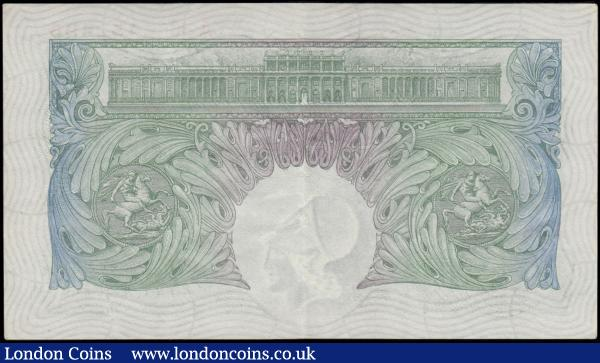 One Pound Green Mahon B212 issued 1928 FIRST series serial number A36 452495 crisp GEF retaining some original embossing and very Scarce : English Banknotes : Auction 169 : Lot 33