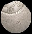 London Coins : A169 : Lot 376 : Mint Error - Mis-Strike Decimal Ten Pence struck way off-centre (date off-flan) with around 17mm bla...
