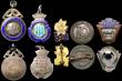 London Coins : A169 : Lot 385 : Prize Medals and Badges (10) Prize Medals (5) Sparkbrook & District Football League Prize Medals...