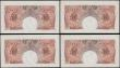 London Coins : A169 : Lot 45 : Ten Shillings Beale B266 Red-brown Britannia medallion issues 1950 (4) a consecutively numbered set ...