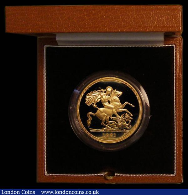 Five Pounds 1981 Gold BU in the Royal Mint's presentation box with certificate : English Cased : Auction 169 : Lot 507