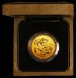 London Coins : A169 : Lot 509 : Five Pounds 1985 Gold BU in the Royal Mint's wooden presentation box with certificate