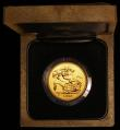 London Coins : A169 : Lot 510 : Five Pounds 1986 Gold BU in the Royal Mint's wooden presentation box with certificate