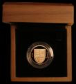 London Coins : A169 : Lot 555 : One Pound 2008 Shield of our Royal Arms J.27 Gold Proof FDC in the Royal Mint box of issue, without ...