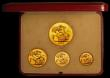 London Coins : A169 : Lot 568 : Proof set 1937 (4 coins) Gold Five Pounds, Two Pounds, Sovereign and Half Sovereign UNC to nFDC the ...