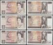London Coins : A169 : Lot 71 : Bank of England  ( 4) a selection of 10 Pounds 1970-80's various different cashiers (4) mixed g...