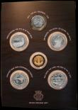 London Coins : A169 : Lot 756 : Gibraltar -The Battle of the Atlantic 1939-1945 a 6-coin set comprising Gold Quarter Crown 2016 In G...