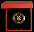 London Coins : A169 : Lot 761 : Hong Kong $1000 1980 Year of the Monkey KM#47 Gold Proof FDC in the red case of issue with certifica...