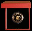 London Coins : A169 : Lot 763 : Hong Kong $1000 1980 Year of the Monkey KM#47 Gold Proof FDC in the red case of issue with certifica...