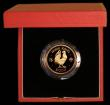 London Coins : A169 : Lot 768 : Hong Kong $1000 1981 Year of the Cockerel KM#48 Gold Proof FDC in the red case of issue with certifi...
