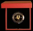 London Coins : A169 : Lot 772 : Hong Kong $1000 1981 Year of the Cockerel KM#48 Gold Proof FDC in the red case of issue with certifi...