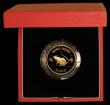 London Coins : A169 : Lot 779 : Hong Kong $1000 1984 Year of the Rat KM#52 Gold Proof FDC in the red case of issue with certificate