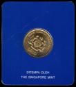 London Coins : A169 : Lot 791 : Malaysia 500 Ringgit 1990 in gold 5th Malaysian 5-Year Plan KM#38 UNC on the blue card of issue