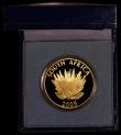 London Coins : A169 : Lot 819 : South Africa Protea Coinage 25 Rand 2005 Nobel Prize Winners - Albert Luthuli, One Ounce of .999 Gol...