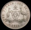 London Coins : A169 : Lot 829 : Australia Florin 1915 KM#27 Fine/Good Fine or better, a bold and collectable example of this key dat...