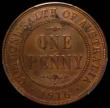 London Coins : A169 : Lot 835 : Australia Penny 1916 KM#59 I UNC with a few small spots and traces of lustre, in a PCGS holder UNC d...