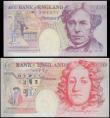 London Coins : A169 : Lot 84 : Bank of England Kentfield Special prefix YR19 issues 1999 (2) both UNC in the original plastic holde...