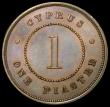 London Coins : A169 : Lot 887 : Cyprus One Piastre 1879 KM#3.1 EF with traces of lustre