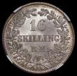 London Coins : A169 : Lot 893 : Denmark 16 Skillings Rigsmont 1857 FK- ( c ) VS KM#765 a sharp example and with original lustre, in ...