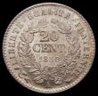 London Coins : A169 : Lot 907 : France 20 Centimes 1850B KM#758.1 UNC and choice with good lustre