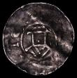 London Coins : A169 : Lot 912 : France Feudal coinage Denier, Obverse: Crude stylised castle,  Reverse: Cross with ODDO (?) in the a...