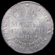 London Coins : A169 : Lot 918 : German States - Brunswick-Wolfenbüttel 24 Mariengroschen 1834 CVC KM#1124 UNC and lustrous, in ...