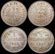 London Coins : A169 : Lot 919 : German States - Frankfurt 1 Kreuzer (4) 1860 KM#357 UNC with a choice and colourful tone, 1864 KM#36...