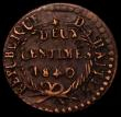 London Coins : A169 : Lot 970 : Haiti Two Centimes 1840/AN37 Backwards or Rotated 4 in date, unbarred A in AN, KM#A22, 5.47 grammes,...