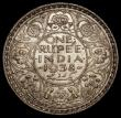London Coins : A170 : Lot 1058 : India One Rupee 1938 Bombay Mint, with dot KM#555 NEF with some contact marks