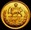 London Coins : A170 : Lot 1064 : Iran 5 Pahlavi Gold MS2537 (1978) KM#1202 UNC with practically full lustre and a few minor hairlines...