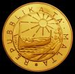 London Coins : A170 : Lot 1112 : Malta 100 Liri Gold 1983 International Year of Disabled People, Obverse: Republic Emblem within circ...