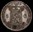 London Coins : A170 : Lot 1140 : Netherlands Gulden 1824 No dash between crown and shield. Privy mark Torch, Utrecht Mint KM#55 VF wi...