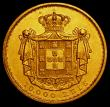 London Coins : A170 : Lot 1156 : Portugal 10000 Reis Gold 1881 KM#520 About EF, the reverse with a heavier contact mark at the top of...