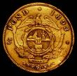 London Coins : A170 : Lot 1183 : South Africa Half Pond 1893 KM#9.2 Fine or better, Ex-Jewellery, An extremely rare date and seldom o...