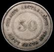 London Coins : A170 : Lot 1220 : Straits Settlements 50 Cents 1902 KM#23 Near Fine/About Fine, a collectable example for the grade, w...