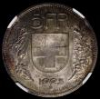 London Coins : A170 : Lot 1229 : Switzerland 5 Francs 1925 NGC MS63