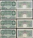 London Coins : A170 : Lot 15 : Bank of England (7) a selection of various O'Brien 10 Shillings and 1 Pounds circa 1955-60'...