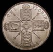 London Coins : A170 : Lot 1588 : Florin 1925 ESC 944, Bull 3777 UNC and lustrous, in an LCGS holder and graded LCGS 78, one of the ke...