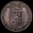 London Coins : A170 : Lot 1693 : Halfcrown 1689 Second Shield, Caul only frosted, with Pearls, Inverted N in REGINA ESC 510 variation...