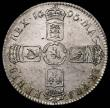 London Coins : A170 : Lot 1695 : Halfcrown 1696 First Bust, Small Shields ESC 534, Bull 1014, UNC or near so in an LCGS holder and gr...
