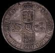London Coins : A170 : Lot 1707 : Halfcrown 1708 Plain in angles and below bust SEPTIMO edge ESC 577, Bull 1370 GVF the reverse better...