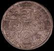 London Coins : A170 : Lot 1717 : Halfcrown 1717 Roses and Plumes, TIRTIO edge, ESC 589, Bull 1554 NVF with some adjustment lines, onc...