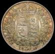 London Coins : A170 : Lot 1812 : Halfcrown 1891 ESC 724, Bull 2776, Davies 649 dies 3C N of PENSE with crossbar Lustrous UNC with fla...
