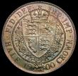 London Coins : A170 : Lot 1825 : Halfcrown 1900 ESC 734, Bull 2786 UNC with golden tone, with hints of blue, green and magenta, the r...