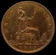 London Coins : A170 : Lot 1875 : Halfpenny 1868 Bronze Proof Freeman 305 dies 7+G nFDC with traces of lustre in an LCGS holder and gr...
