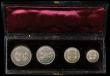London Coins : A170 : Lot 1881 : Maundy a three part set 1895 Fourpence, Threepence and Twopence along with Penny 1863 EF to A/UNC, i...