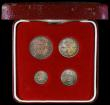 London Coins : A170 : Lot 1896 : Maundy Set 1893 ESC 2508, Bull 3551 EF to UNC with a matching colourful tone, in a modern red Maundy...